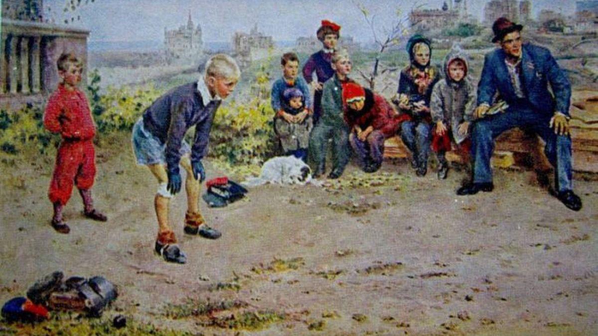 Сергей Григорьев, 1948 год, картина «Вратарь»