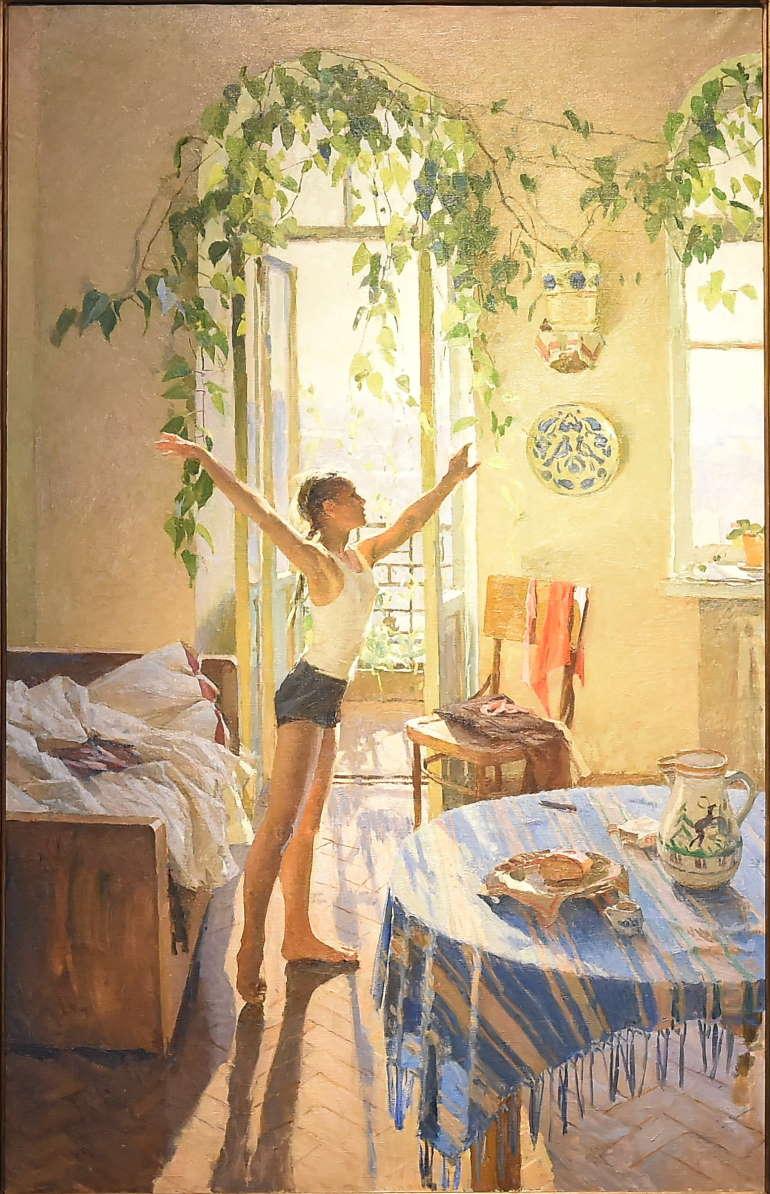Татьяна Яблонская, картина «Утро», 1954 год, Третьяковка