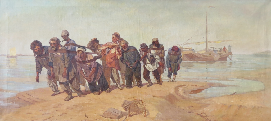 Бурлаки на Волге, холст, масло, 1873 год, Илья Репин, Третьяковская Галерея
