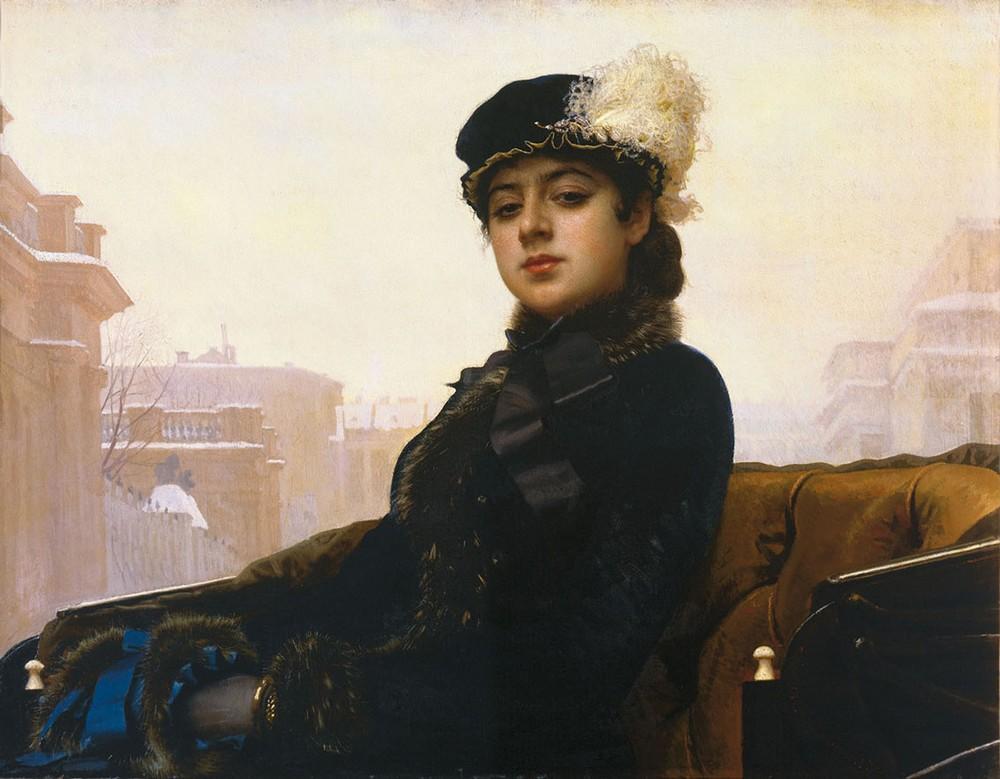 Иван Крамской, 1883 год, картина «Неизвестная».