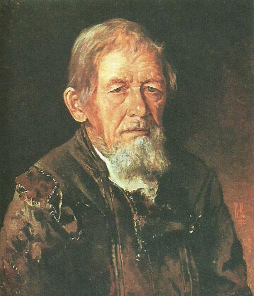 Иван Крамской, не датирована, картина «Портрет сказителя былин».