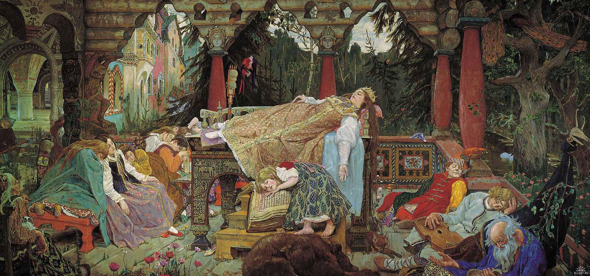 Виктор Васнецов, 1926 год, картина «Спящая царевна».