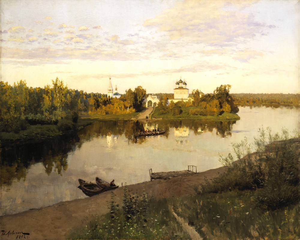 Исаак Левитан, 1892 год, картина «Вечерний звон».