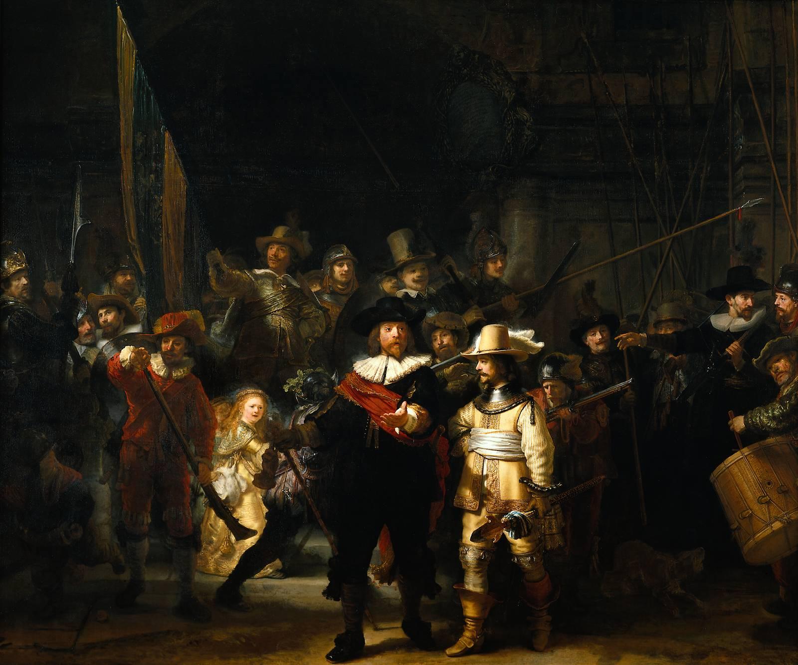 Рембрандт, 1642 год, картина «Ночной дозор».