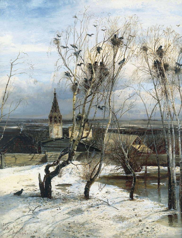 Грачи прилетели, Алексей Саврасов, 1871 год, Третьяковка