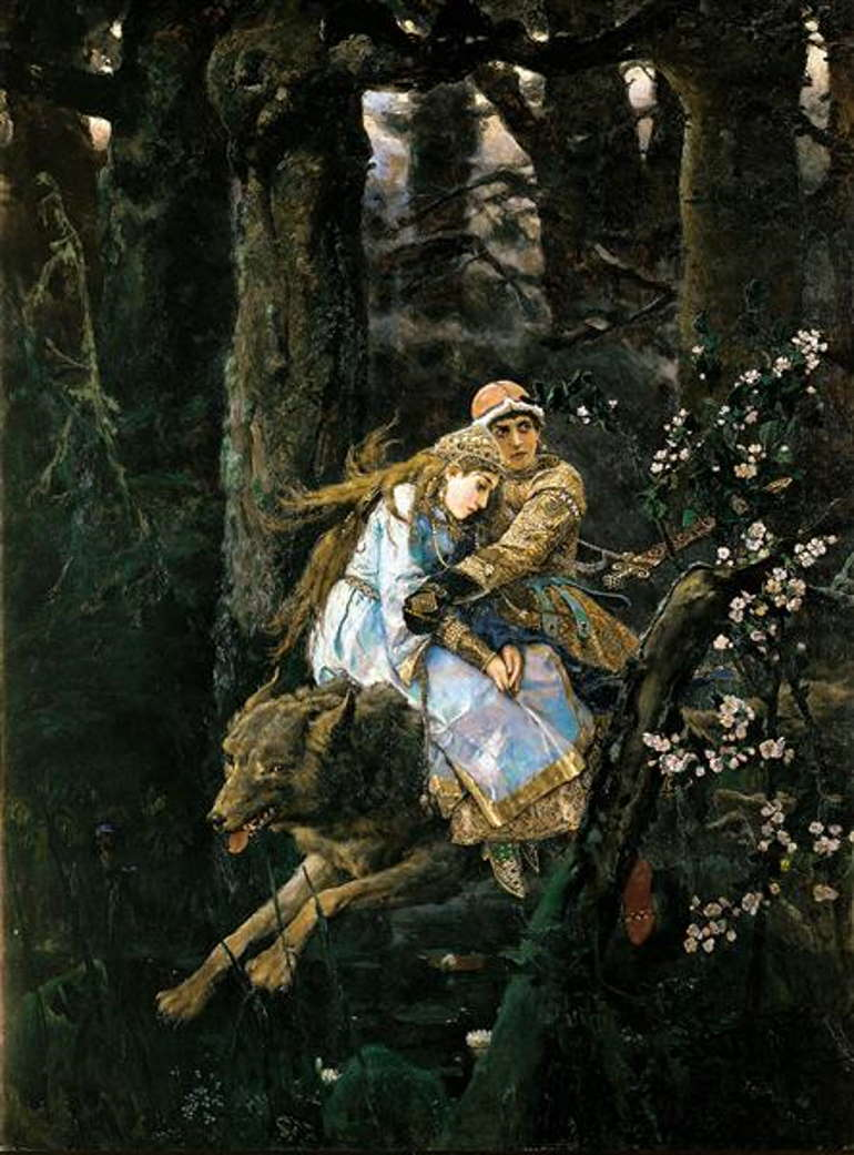 Иван-царевич на Сером волке, Виктор Васнецов,1889 год, Третьяковка