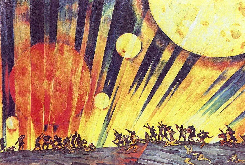 Новая планета, картина Константина Юона, 1921 год, Третьяковка