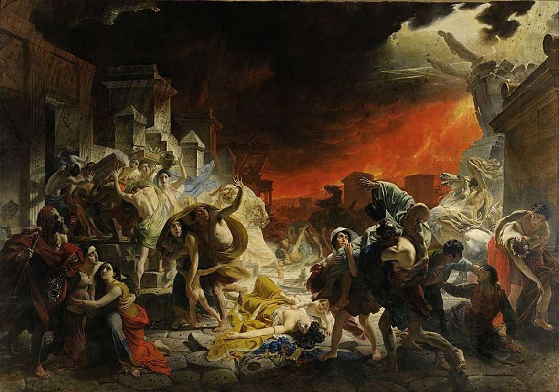 После́дний день Помпе́и, Карл Брюллов, 1833 год, Санкт-Петербургский художественный музей