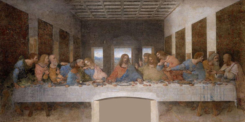 Тайная вечеря, Леонардо да Винчи, 1497 год, Церковь Санта-Мария в Милане