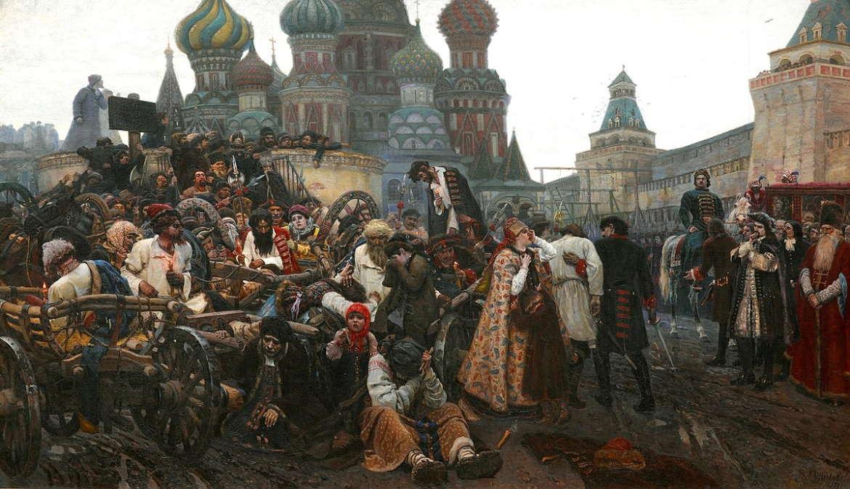 Утро стрелецкой казни, Василий Суриков, 1881 год, Третьяковка