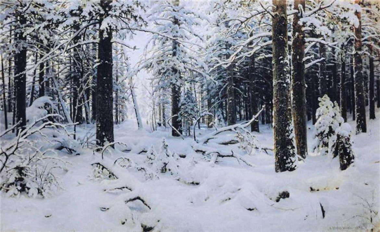 Зима в лесу, 1890 год, Иван Шишкин, Санкт-Петербургский художественный музей