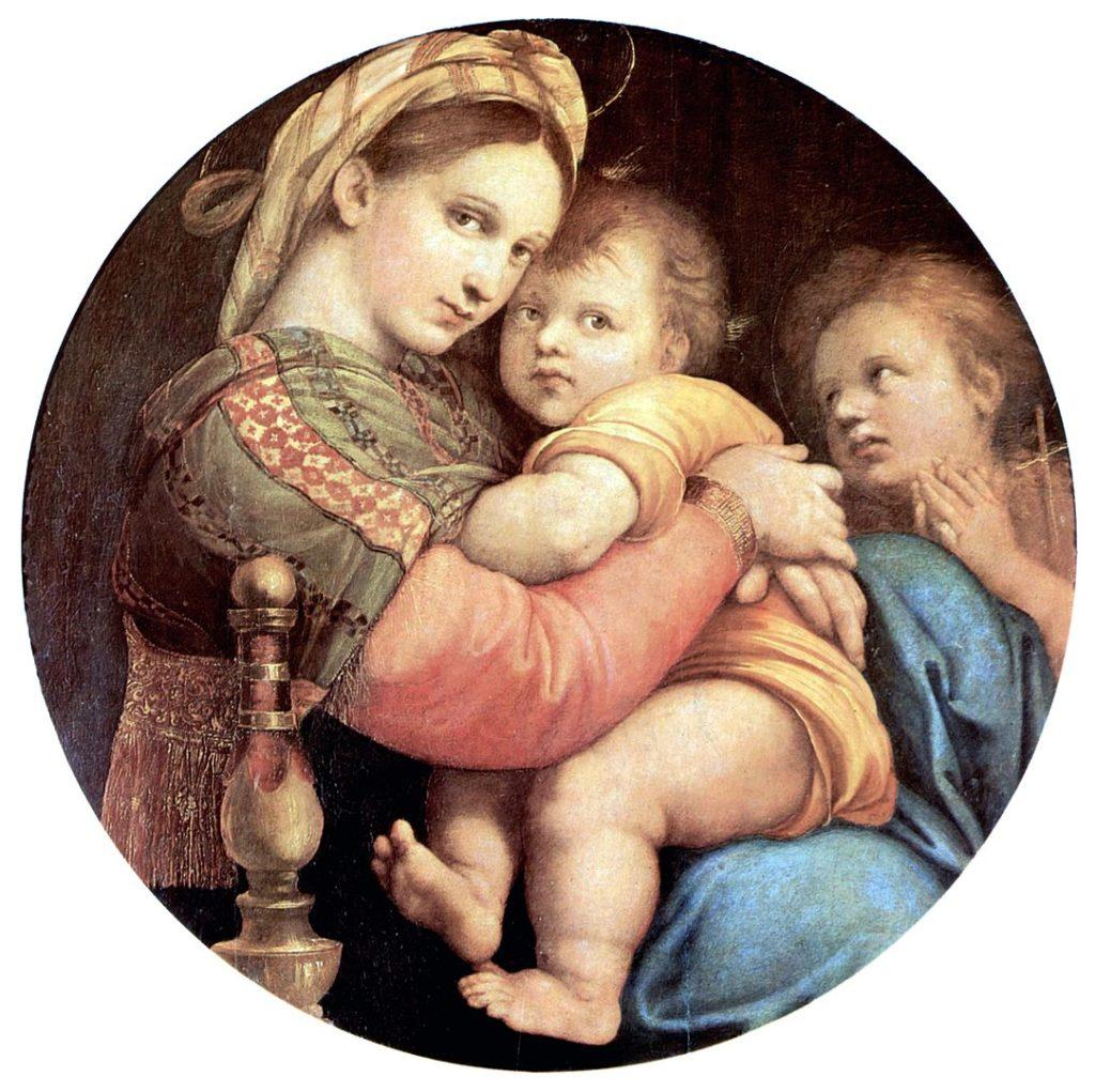 """Рафаэль, """"Мадонна в кресле"""", 1513-1514 гг., фото: ru.wikipedia.org"""