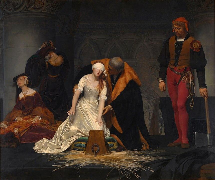 """Поль Деларош, """"Казнь Джейн Грей"""", 1833 год, фото: ru.m.wikipedia.org"""