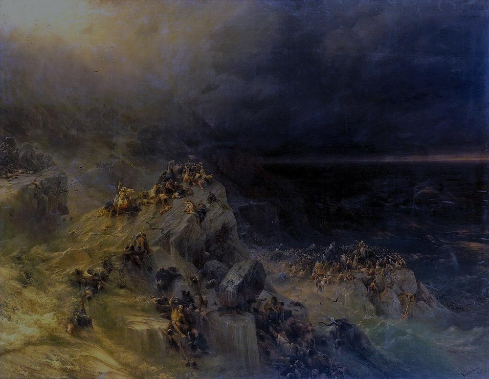 """Иван Айвазовский, 1864 год, """"Всемирный потоп"""", фото: armmuseum.ru"""