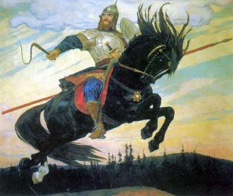 """В.Васнецов, картина """"Богатырский скок"""", 1914 год, фото: art.goldsoch.info"""