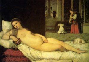 Описание картины Тициана «Венера Урбинская»