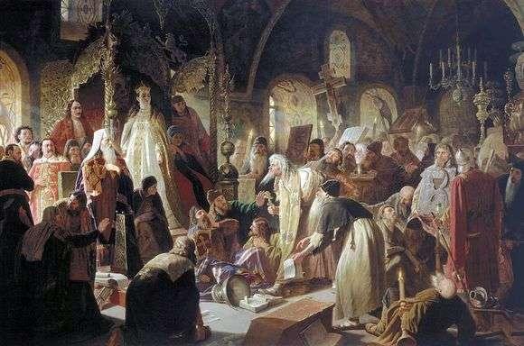 Василий Перов, 1880-1881 годы, картина «Никита Пустосвят. Спор о вере».