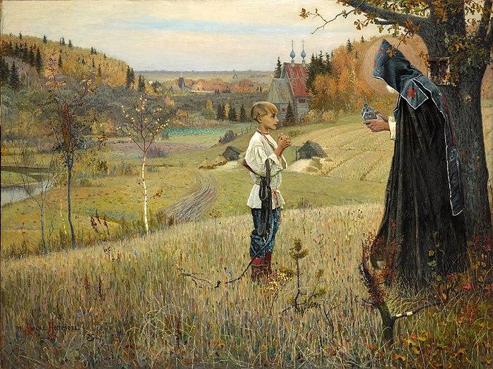 Михаил Нестеров, 1889-1890 годы, картина «Видение отроку Варфоломею».