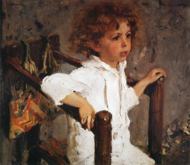 Валентин Серов, 1901 год, картина «Портрет Мики Морозова».