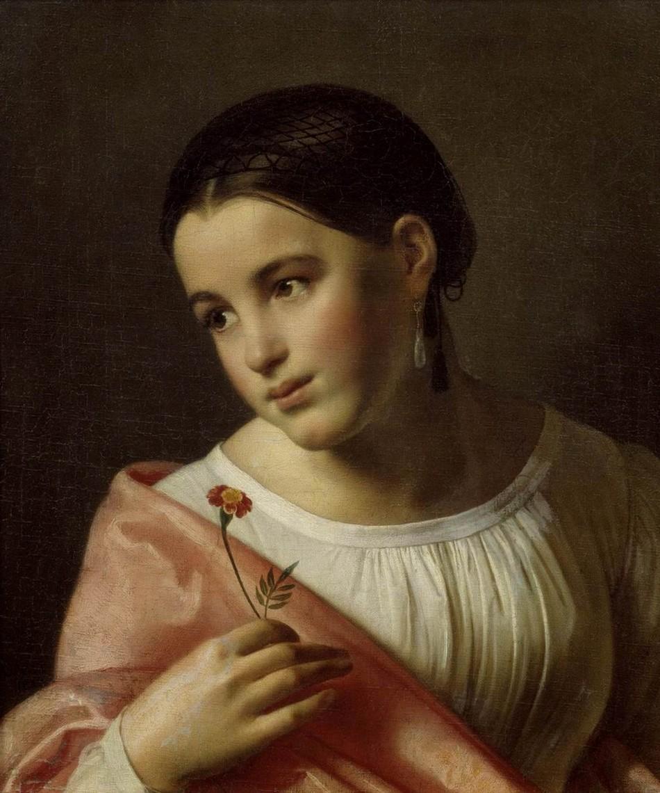 Орест Кипренский, 1827 год, картина «Бедная Лиза».