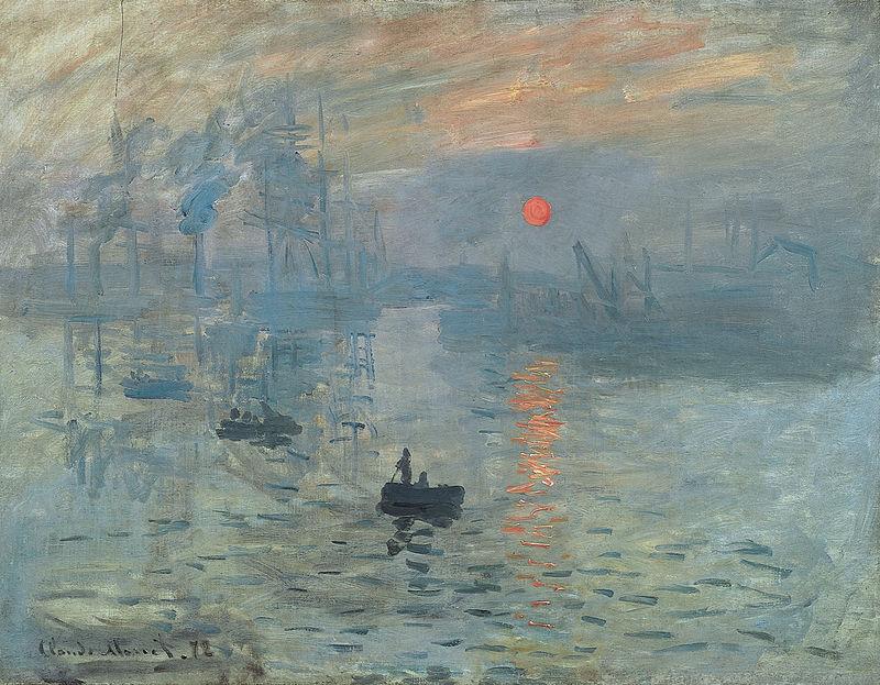 Клод Моне, 1872 год, картина «Впечатление. Восходящее солнце».