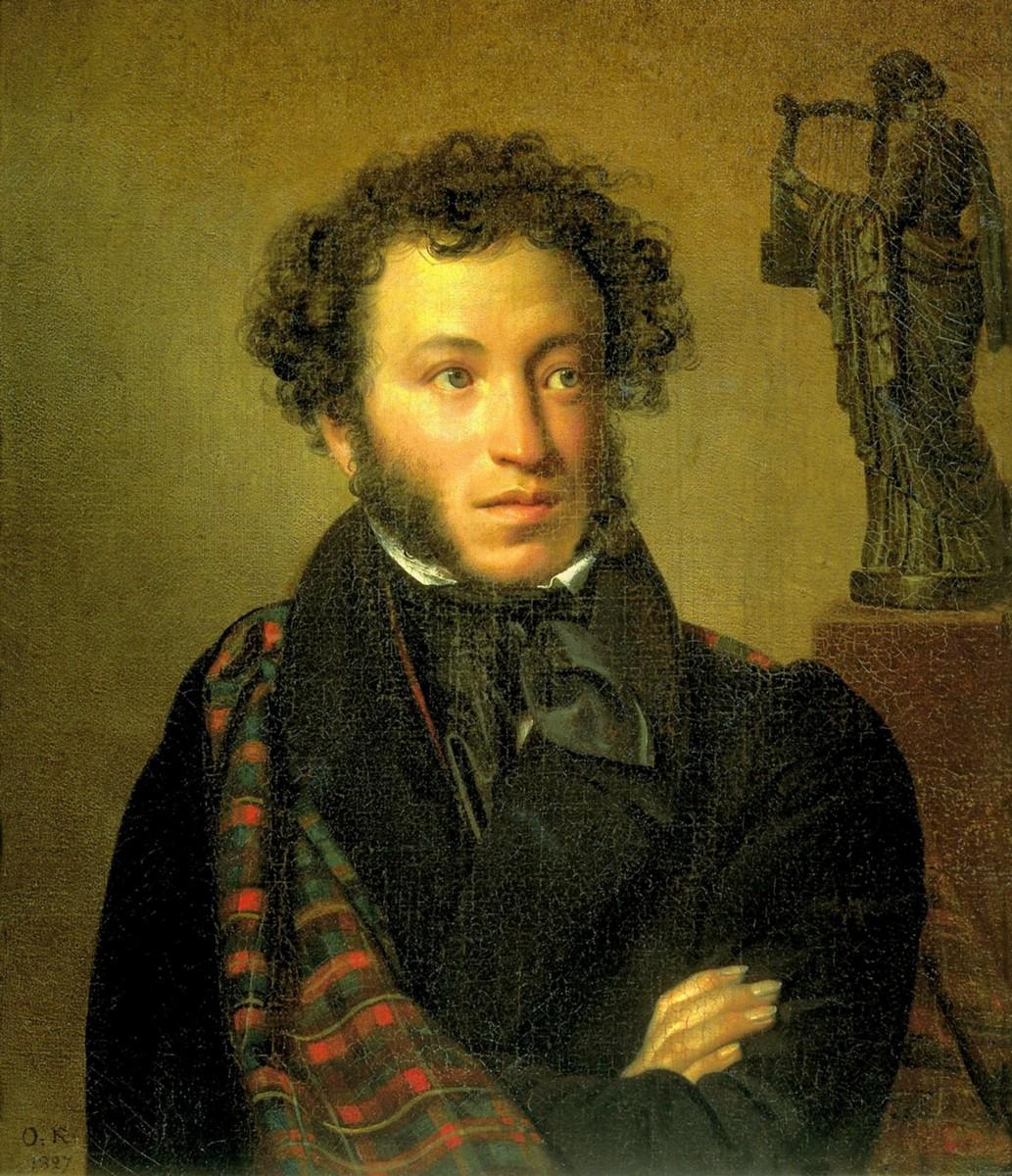 Орест Кипренский, 1827 год, картина «Портрет Пушкина».
