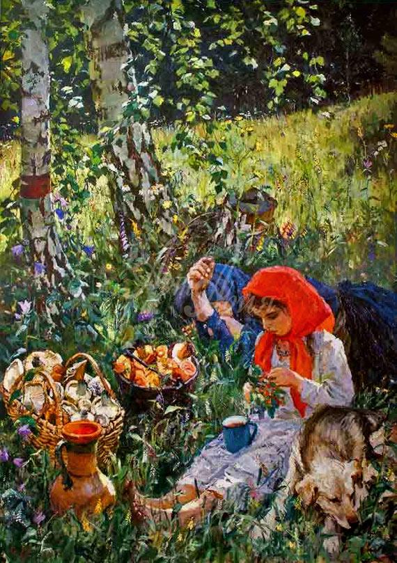 Аркадий Пластов, 1954 год, картина «Летом».