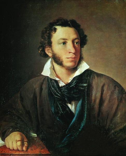 Василий Тропинин, 1827 год, картина «Портрет Пушкина».