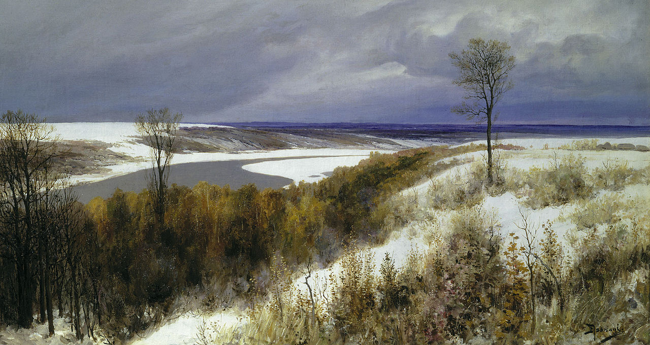 Василий Поленов, 1891 год, картина «Ранний снег»