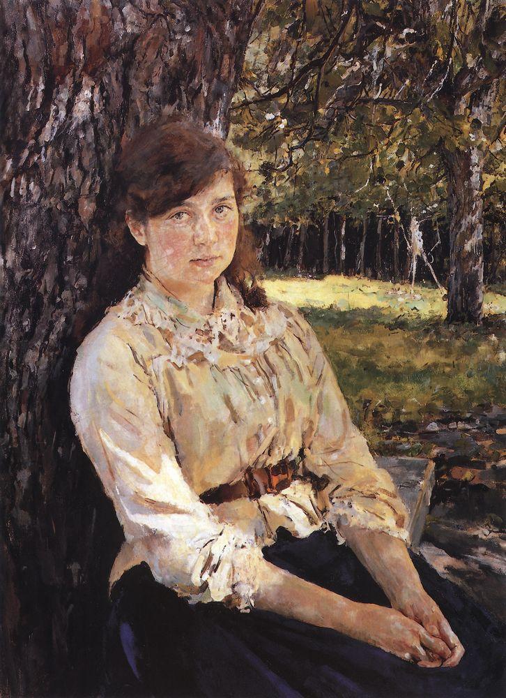 Валентин Серов, 1888 год, картина «Девушка, освещенная солнцем».