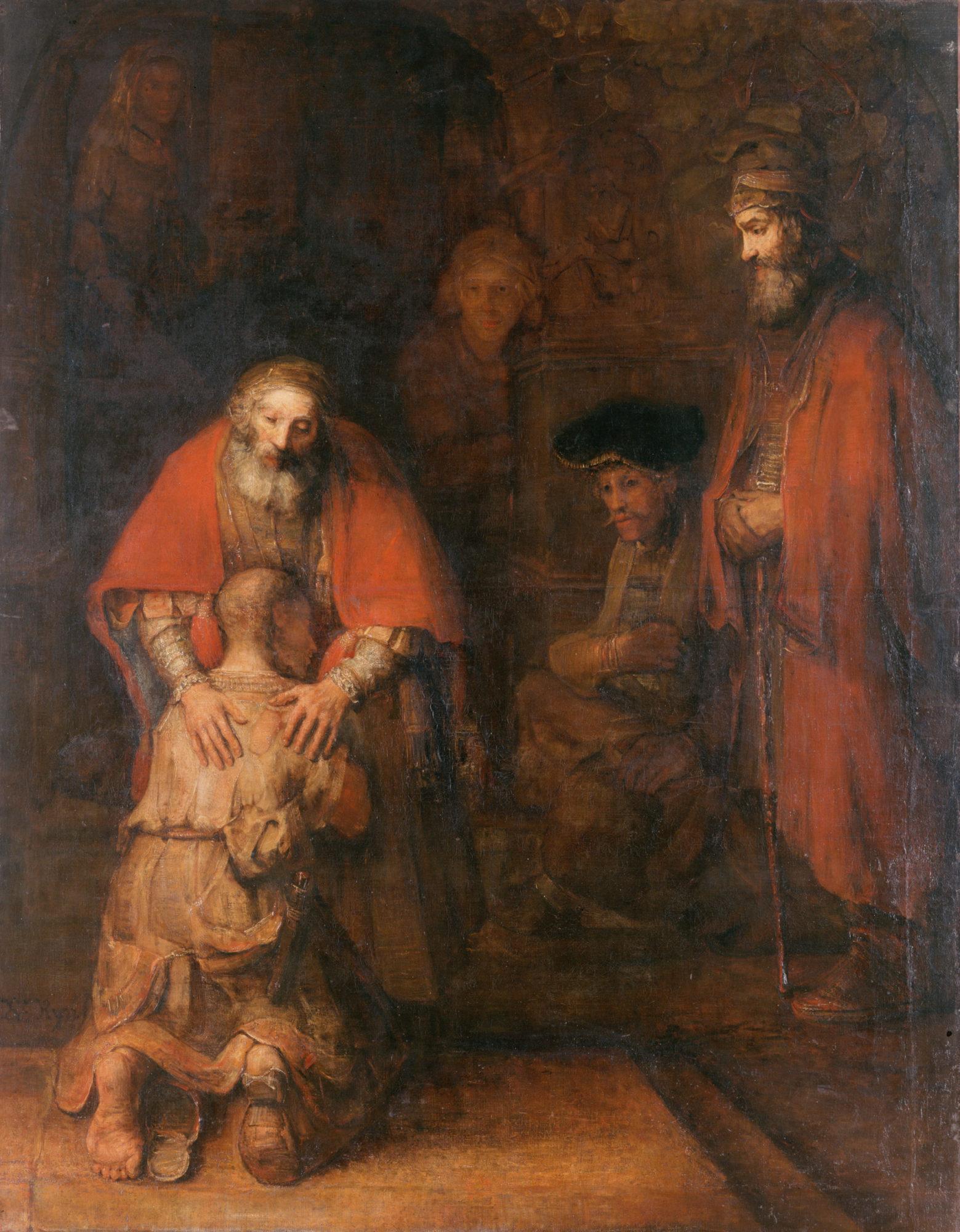 Рембрандт Харменс ван Рейн, 1666 – 1669 гг., картина «Возвращение блудного сына».