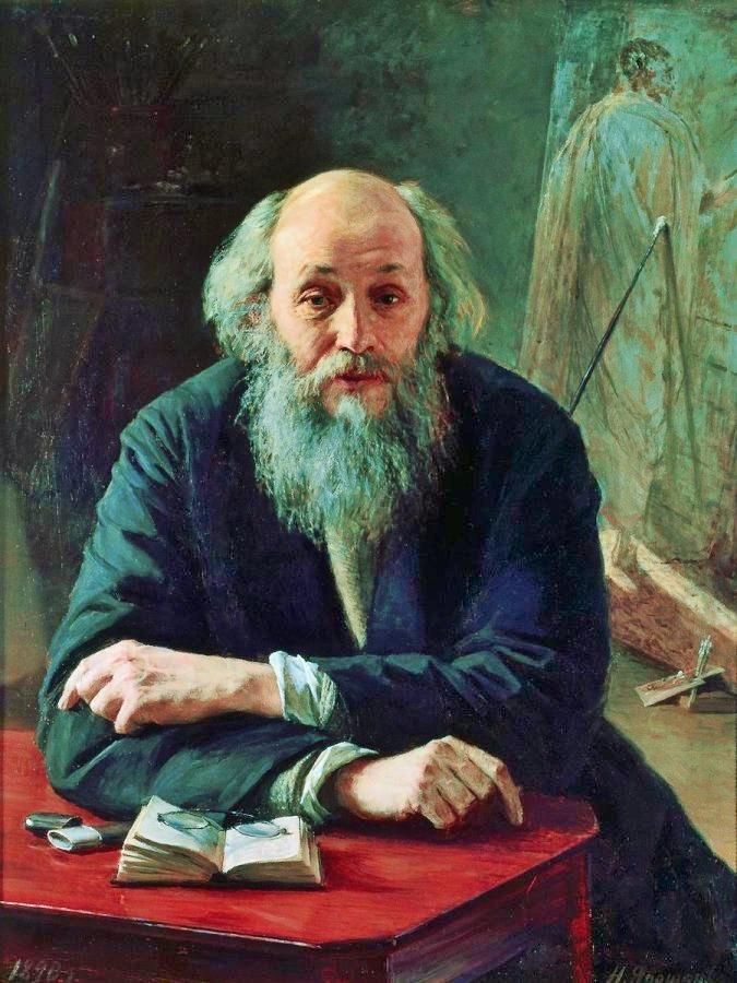 Николай Николаевич Ге, портрет кисти Николая Ярошенко.