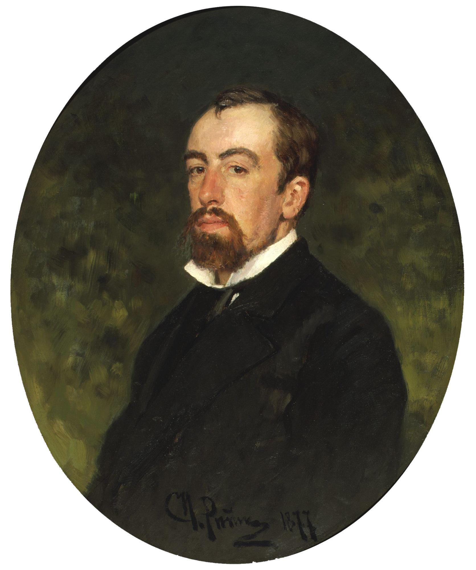 Портрет Василия Поленова кисти Репина, 1877 год.