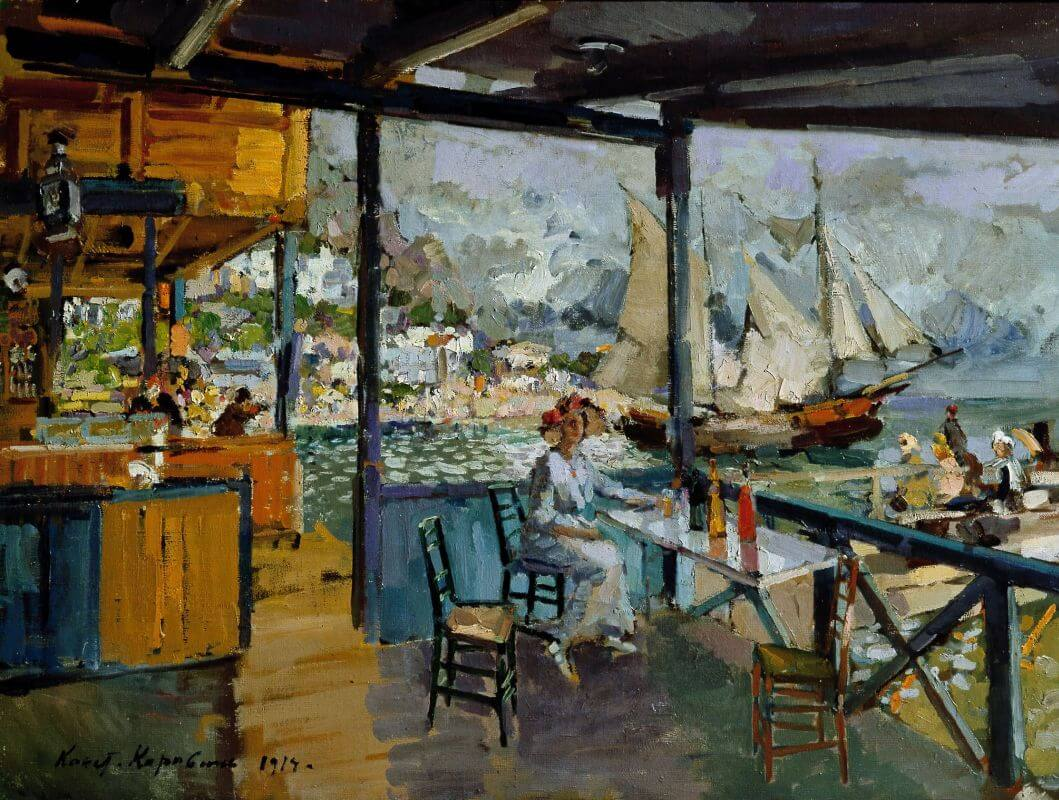 Константин Коровин, 1914 год, картина «Пристань в Гурзуфе».