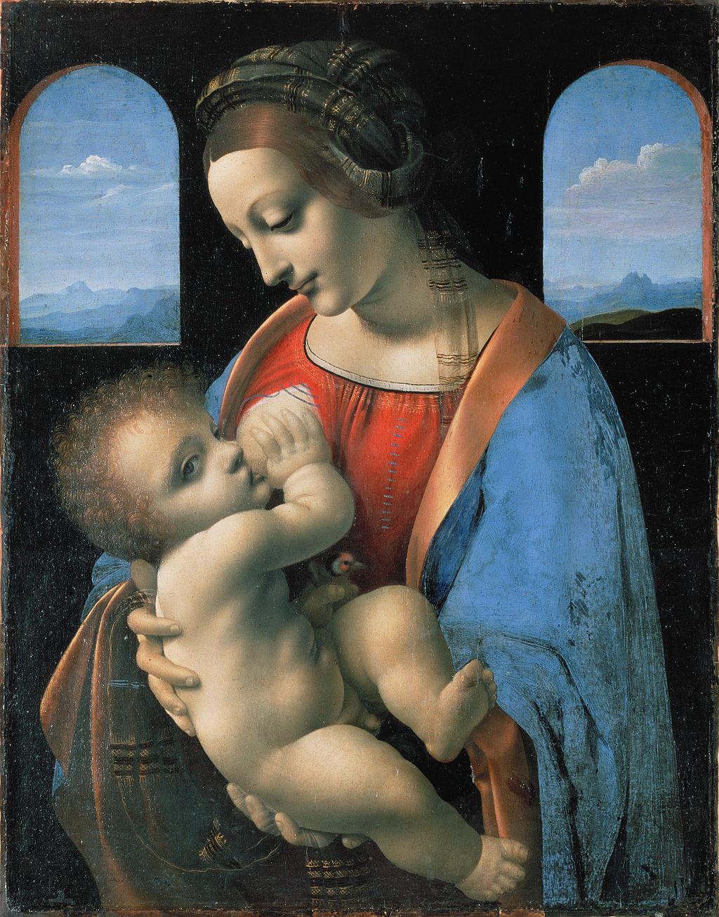 Леонардо да Винчи, 1490-1491 годы, картина «Мадонна Литта»