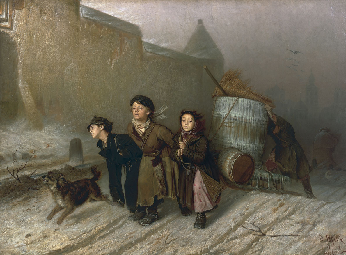 Василий Перов, 1866 год, картина «Тройка».