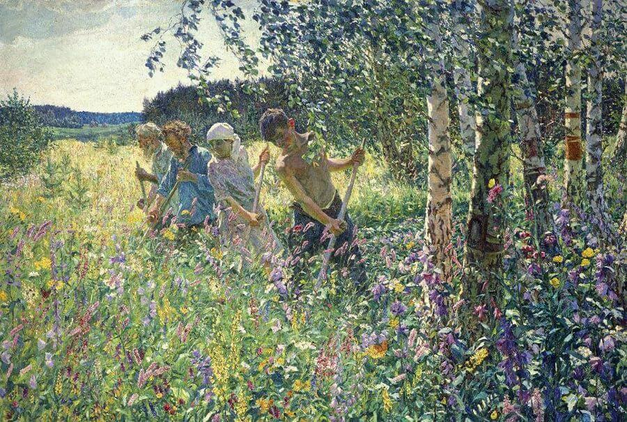 Аркадий Пластов, 1945 год, картина «Сенокос»