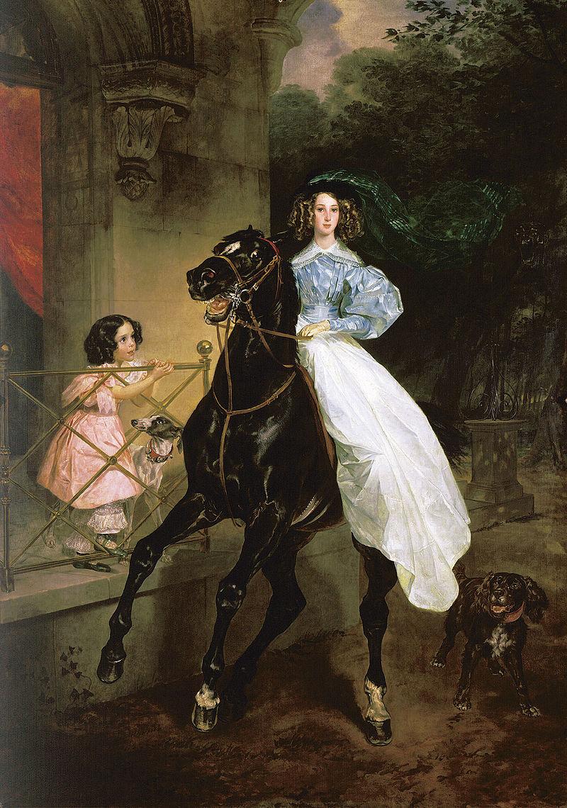 Карл Брюллов, 1832 год, картина «Всадница»
