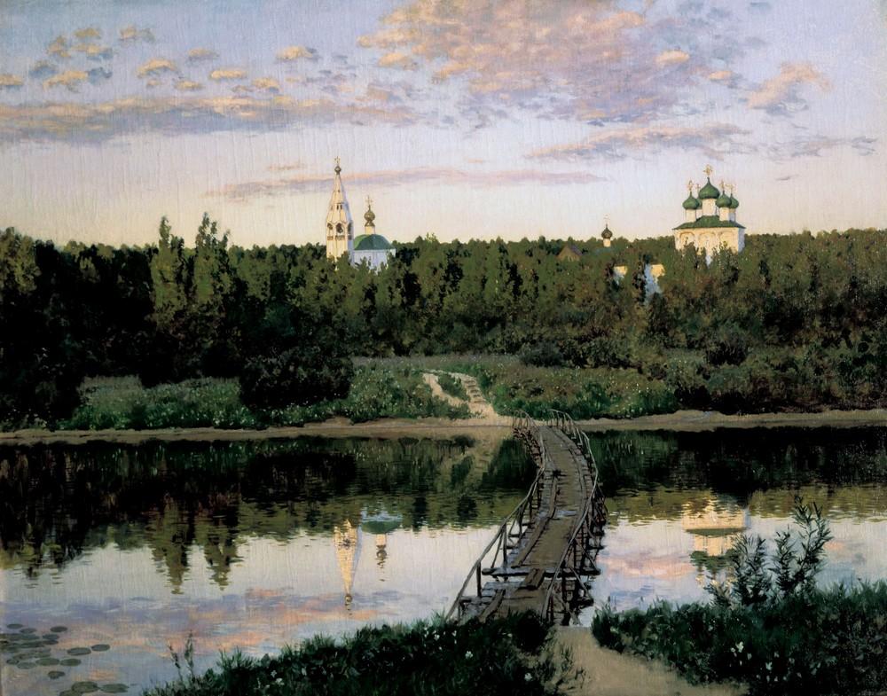 Исаак Левитан, 1890 год, картина «Тихая обитель»