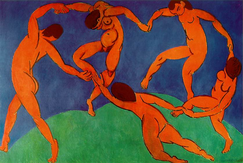 Анри Матисс, 1910 год, картина «Танец»
