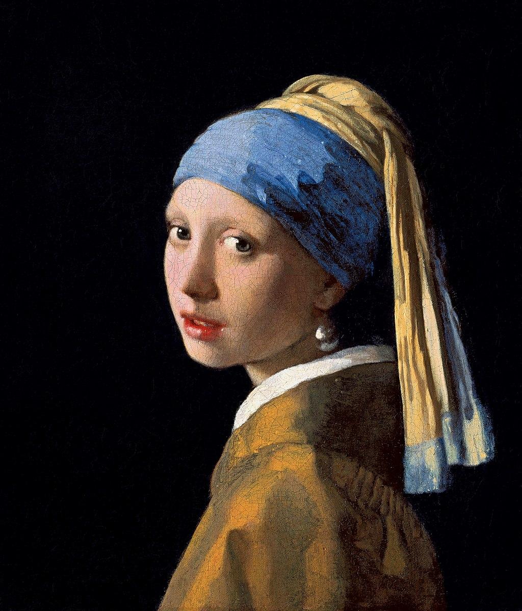 Ян Вермеер, около 1665 года, картина «Девушка с жемчужной сережкой»