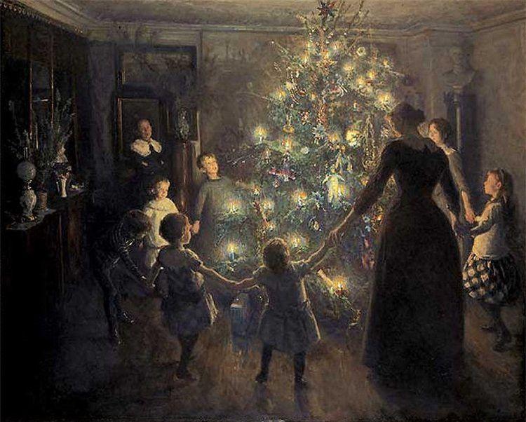 Вигго Юхансен, 1891 год, картина «Светлое Рождество»