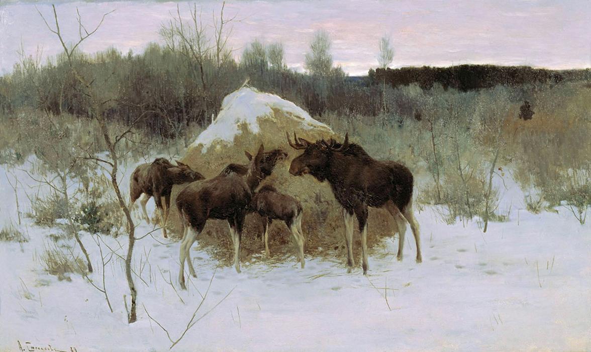 Алексей Степанов, 1889 год, картина «Лоси»