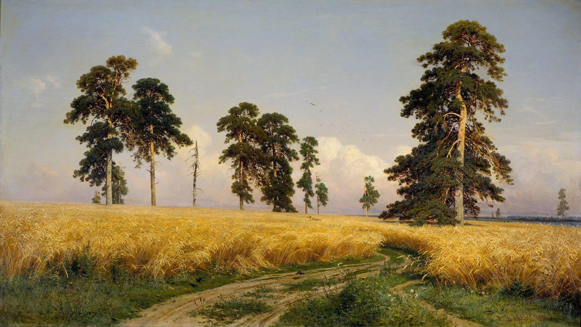 Иван Шишкин, 1878 год, картина «Рожь»