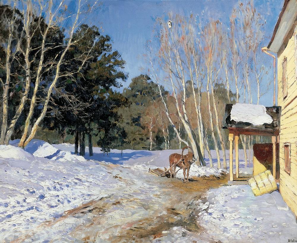 Исаак Левитан, 1895 год, картина «Март»