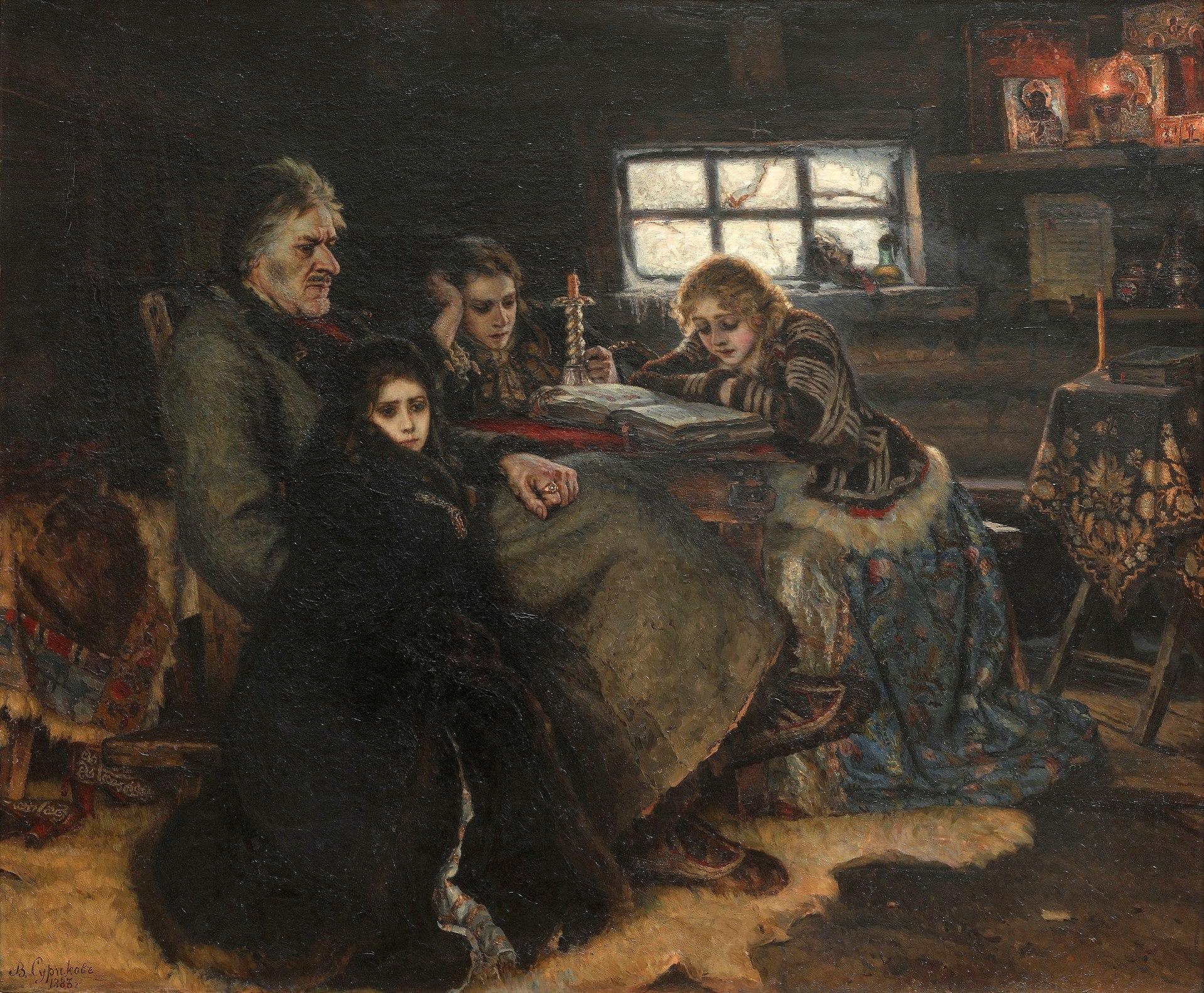Василий Суриков, 1883 год, картина «Меншиков в Березове»