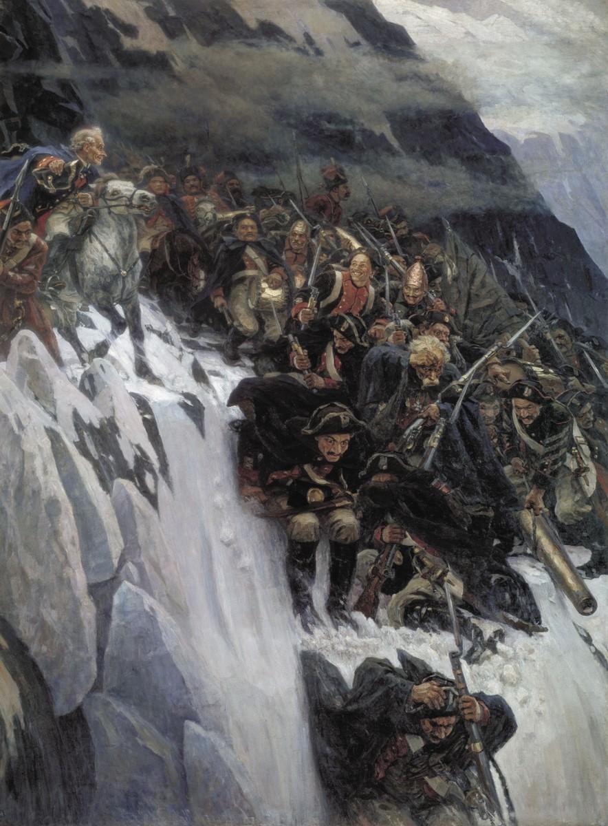 Василий Суриков, 1899 год, картина «Переход Суворова через Альпы»