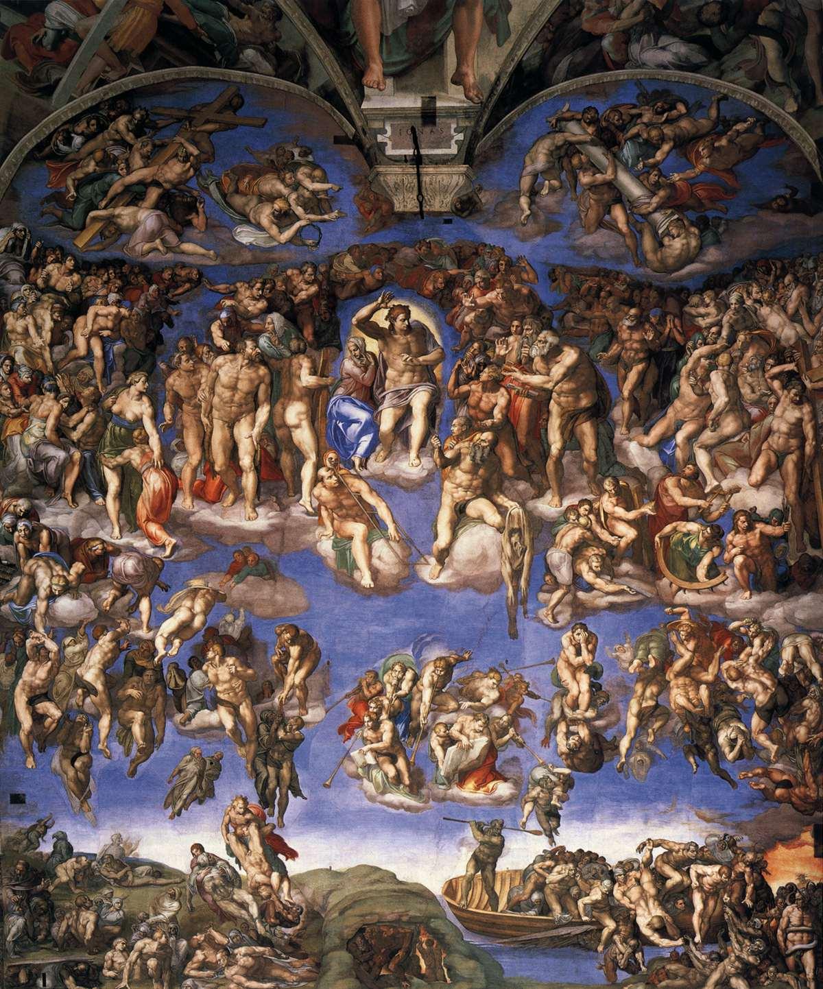 """Микеланджело Буанаротти, 1541 год, картина """"Страшный суд"""""""