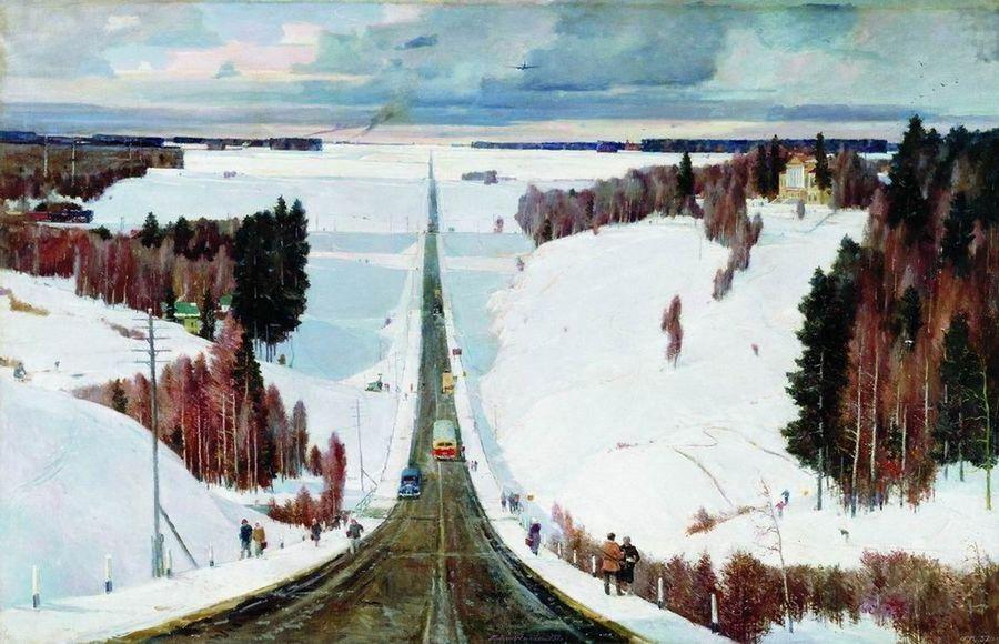 Георгий Нисский, 1957 год, картина «Подмосковная зима».