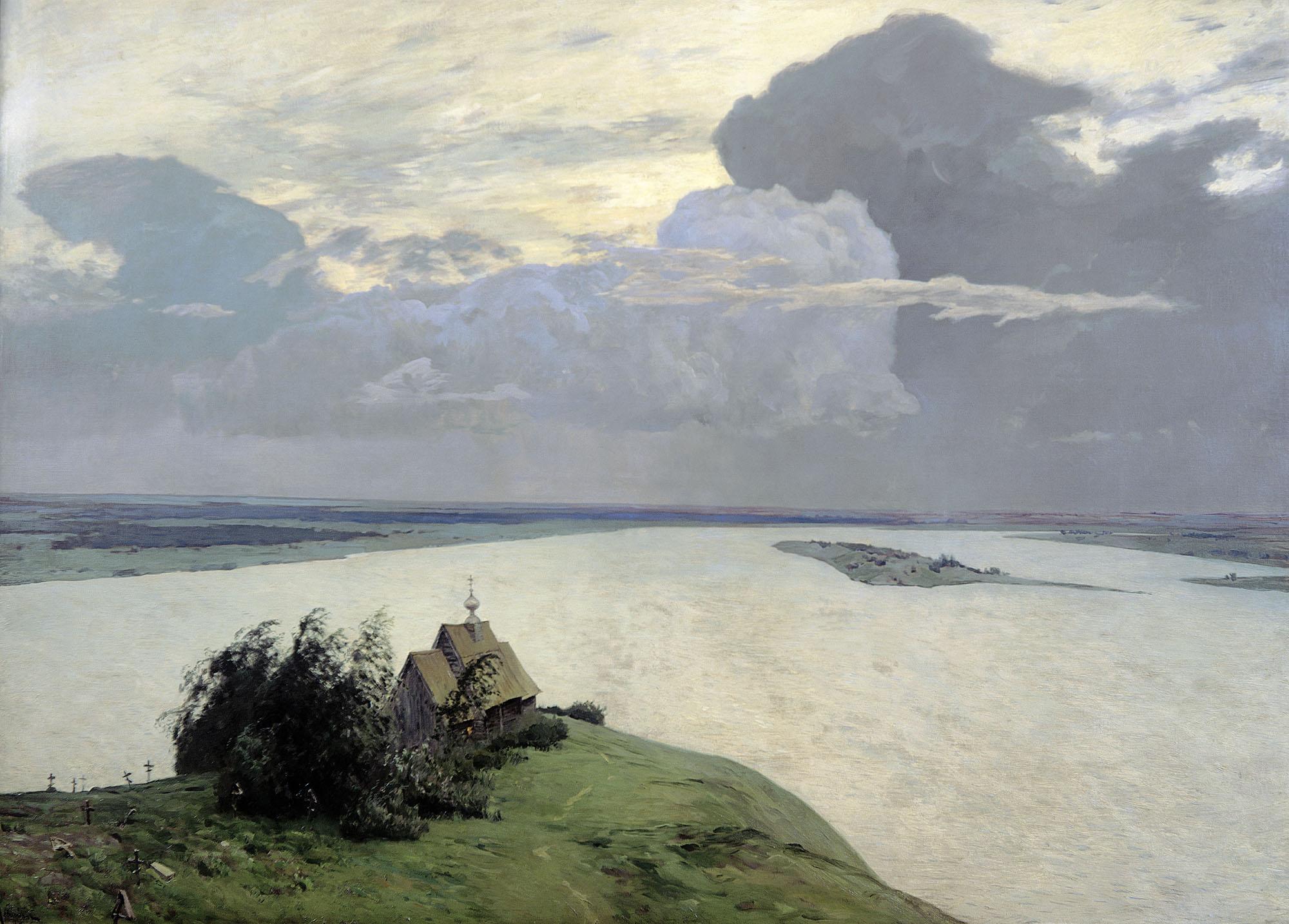 Исаак Левитан, 1894 год, картина «Над вечным покоем».